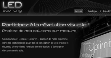 2012// Led sourcing - led-sourcing.com - business - Conception du site internet/identité visuelle